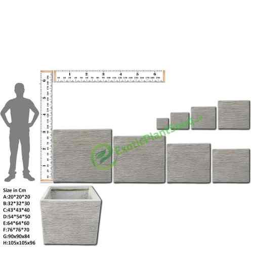 Fiber Clay planter square pots