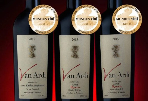van ardi red wine Mundus Vini armenian wine