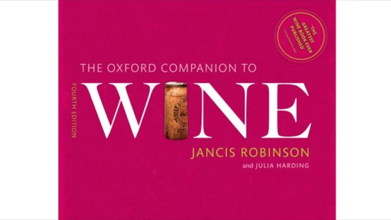 The Oxford Companion To Wine Jancis Robinson and Julia Harding-wine books