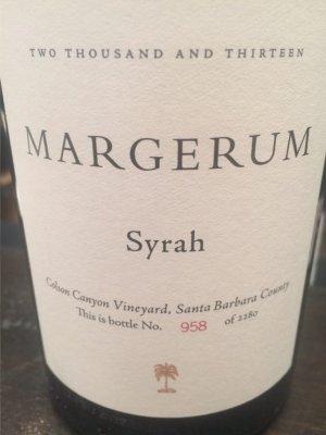Margerum Syrah Colson Canyon Vineyard 2013