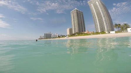 Miami Beach from water