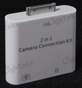 2 in 1 Camera Connection Kit SD Card Reader for iPad_iPad 2