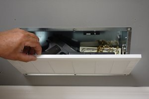 QuickSafes Hidden Compartment Air Vent RFID Locked Safe