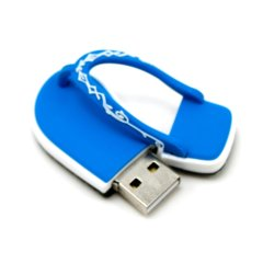 Flipflop USB 2.0 Flash Drive 2GB (Blue)