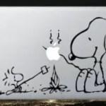 Macbook Vinyl Decal Sticker Snoopy and Woodstock Campfire