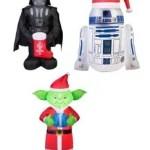 Star Wars R2-D2, Yoda, Darth Vader Inflatable Christmas Lawn Yard Ornaments