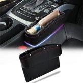 Car Seat Pockets PU Leather Car Console Side Organizer Seat Gap Filler Catch Caddy