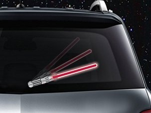 WipeSaber Reflective Saber WiperTags for Rear Wipers (DarkForce Red)
