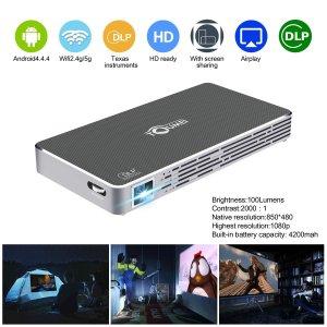 Mini Pico Projector HD DLP Projector hdmi 1080p Portable Wifi Wireless bluetooth home theater projector for smartphone