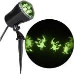Lightshow Whirl-A-Motion Ultra Bright LED Witches Spiders Skeletons Projection Spot Light