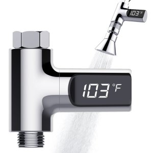 Tecboss LED Digital Shower Thermometer Real Time Water Temperature Monitor
