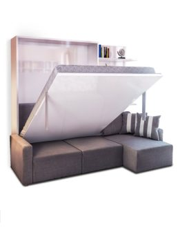 Clean MurphySofa Sectional Wall Bed   Expand Furniture MurphySofa Sectional Wall bed sofa combination in grey