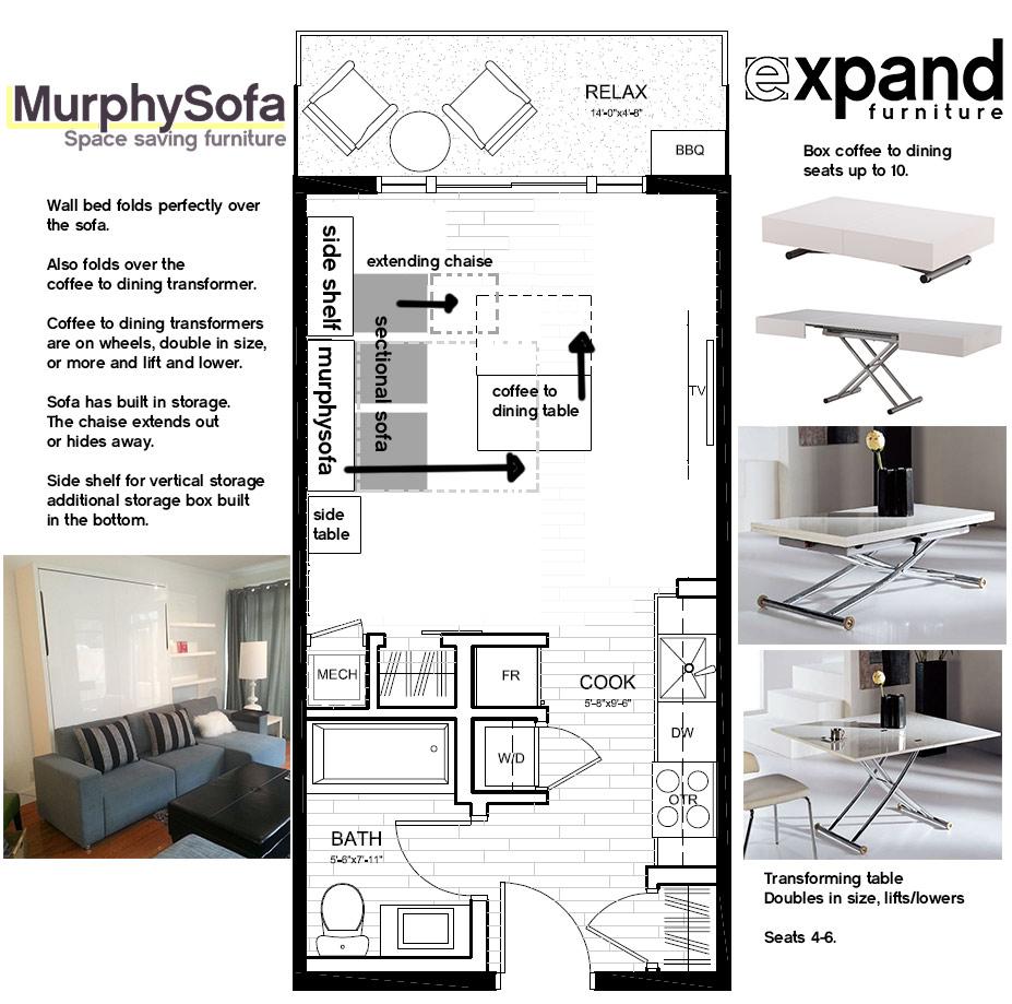 Micro Loft Layout Ideas Expand Furniture