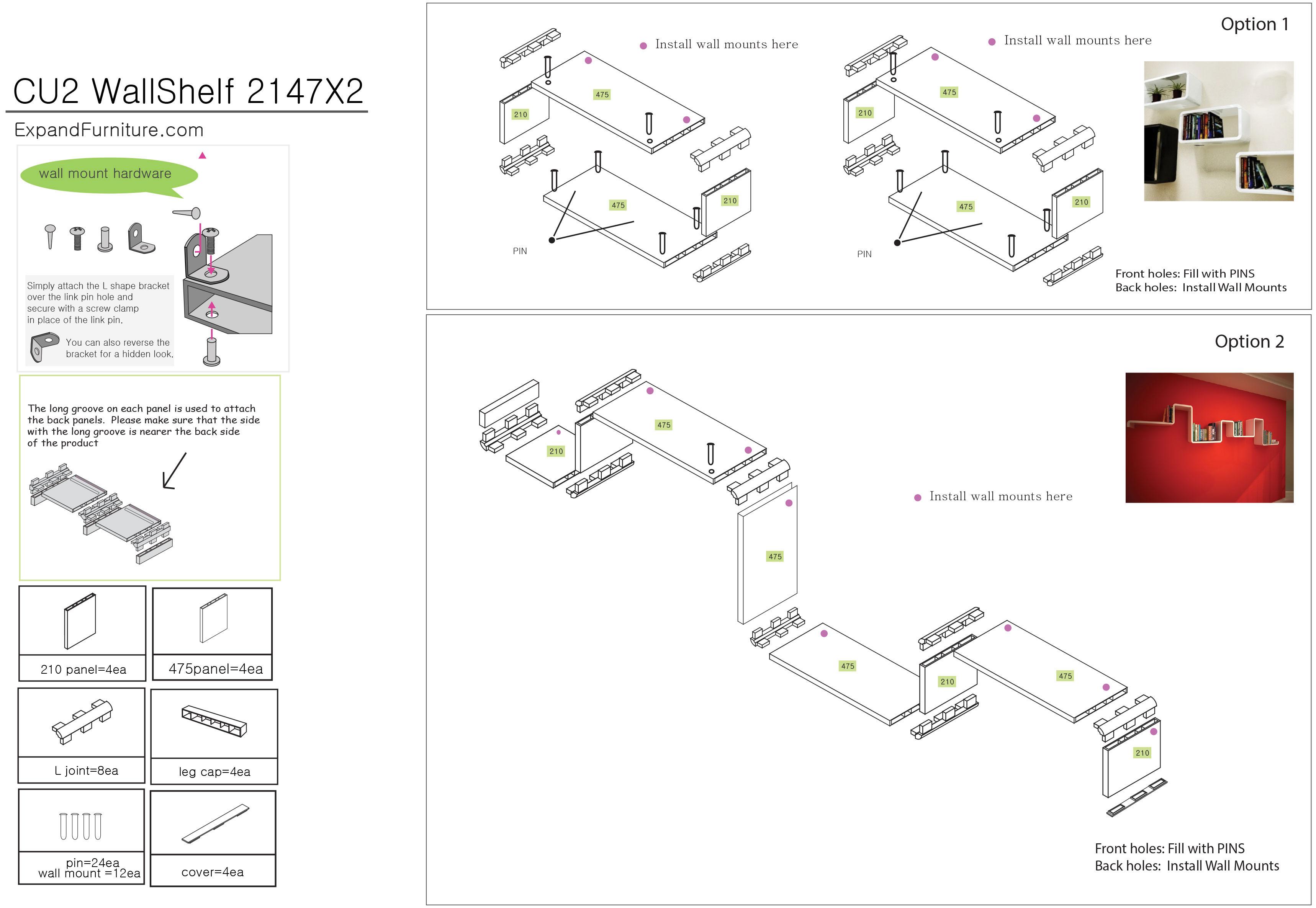X2 Rectangular Modular Shelving Amp Storage