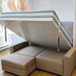 Murphysofa Minima Queen In Eco Leather Expand Furniture Folding Tables Smarter Wall Beds Space Savers