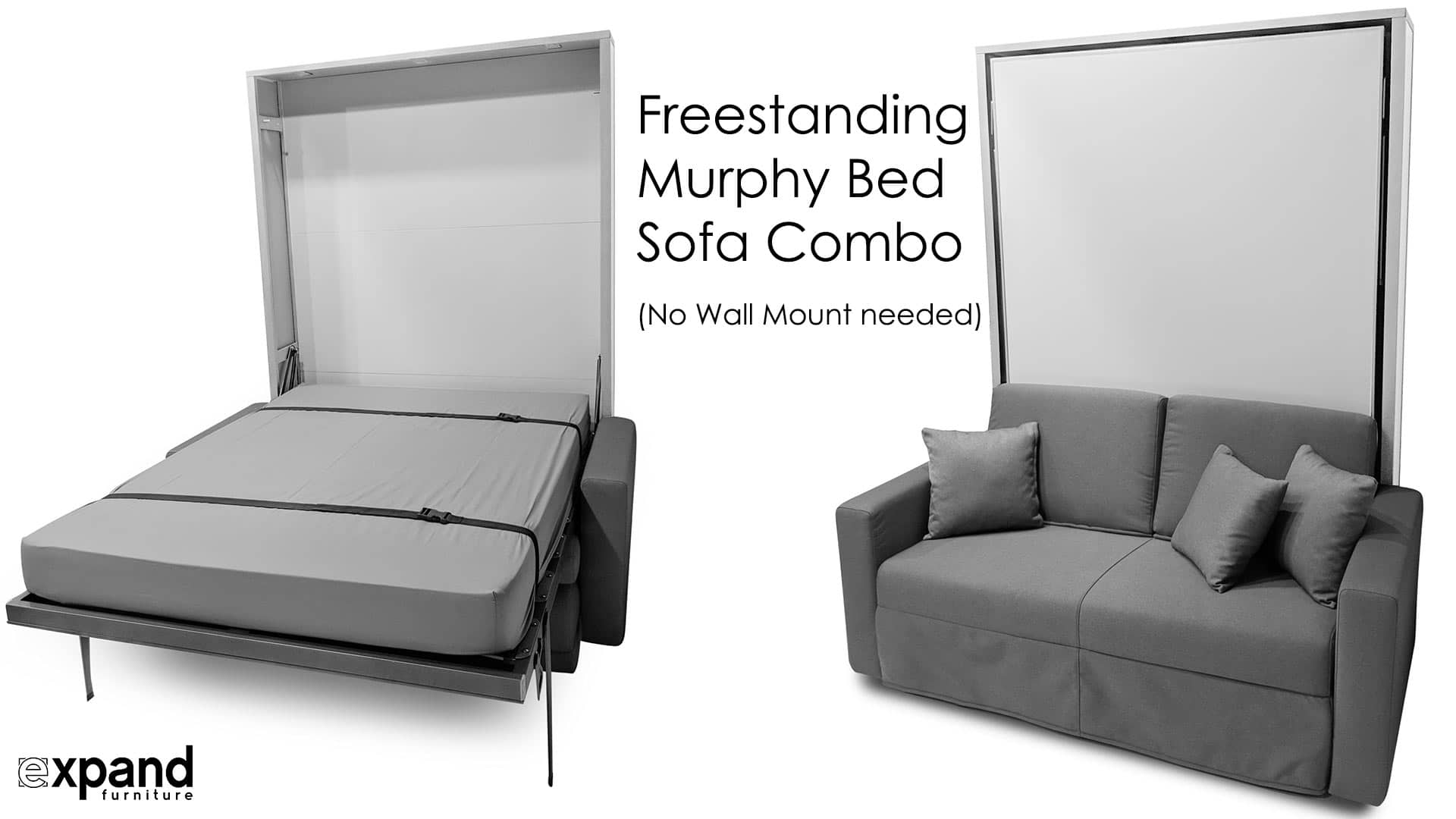 Compatto Freestanding Wall Bed Sofa Expand Furniture