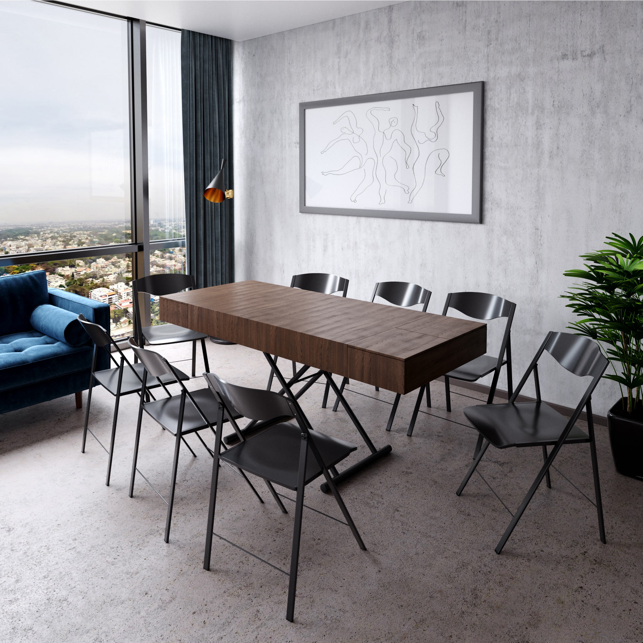 span table coffee to convertible dinner table seating 8 expand furniture folding tables smarter wall beds space savers