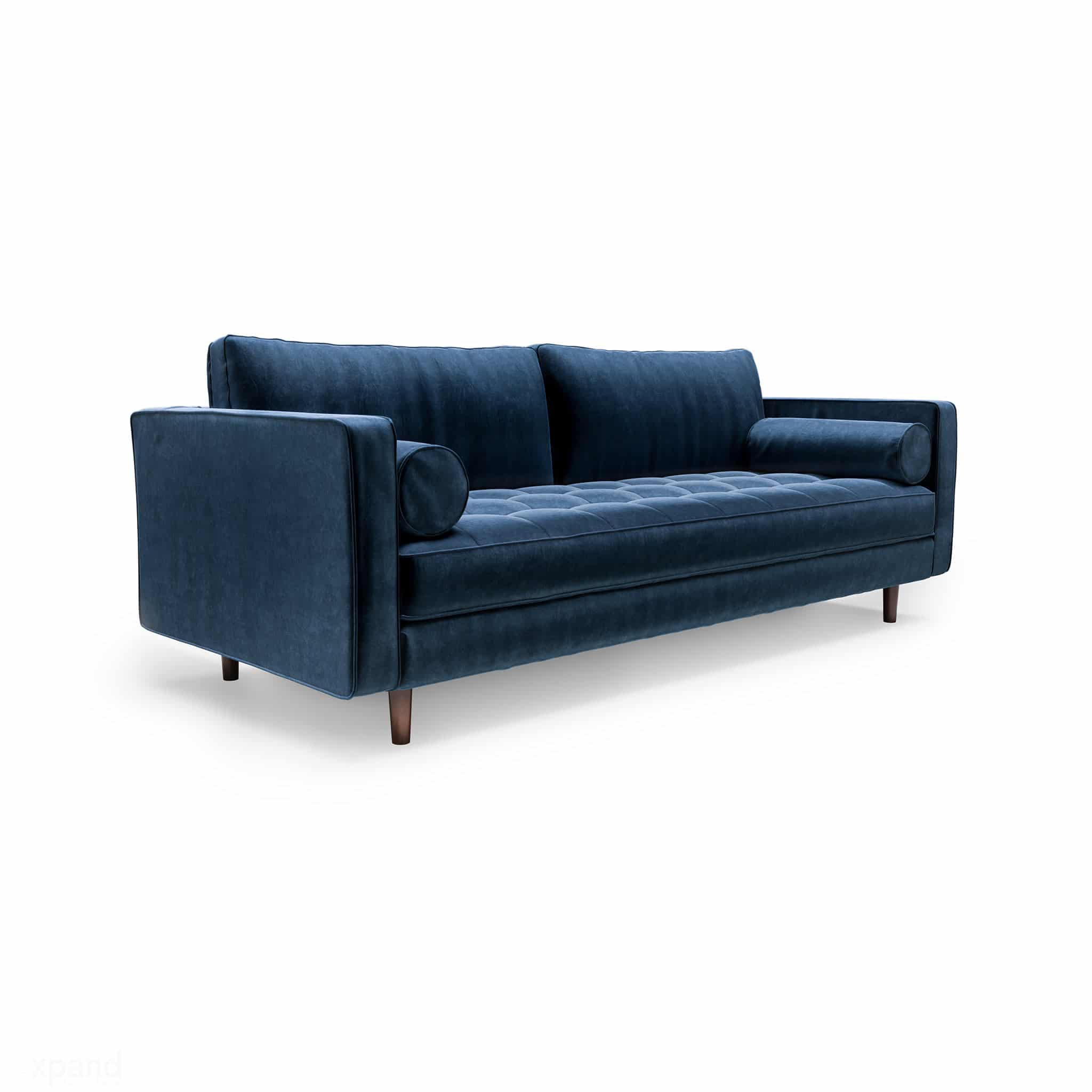 Scandormi Modern Sofa Navy Blue Mid Century Tufted Couch Expand Furniture Folding Tables Smarter Wall Beds Space Savers