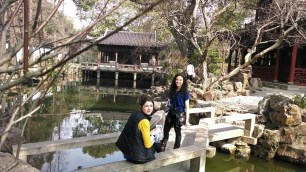 Kelly Hurlburt and Alice Bacani at the garden in Shanghai. Photo by Leisa DeCarlo.