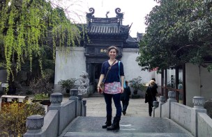 Tammy Carrasco at the garden in Shanghai. Photo by Leisa DeCarlo.