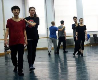 Improvisation workshop at Changchun University. Photo by Alice Bacani.