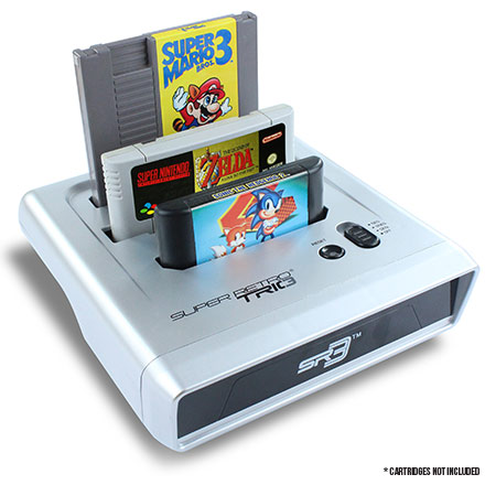 Got classic Nintendo or Sega cartridges but no console? Introducing Super Retro TRIO