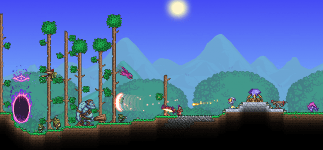 Terraria invaded by Dungeon Defenders 2 - Expansive