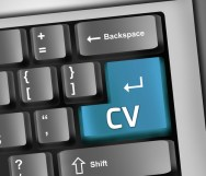 Keyboard Illustration with CV wording