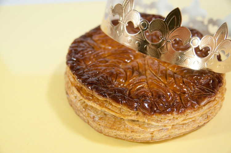 King cake in France with crown