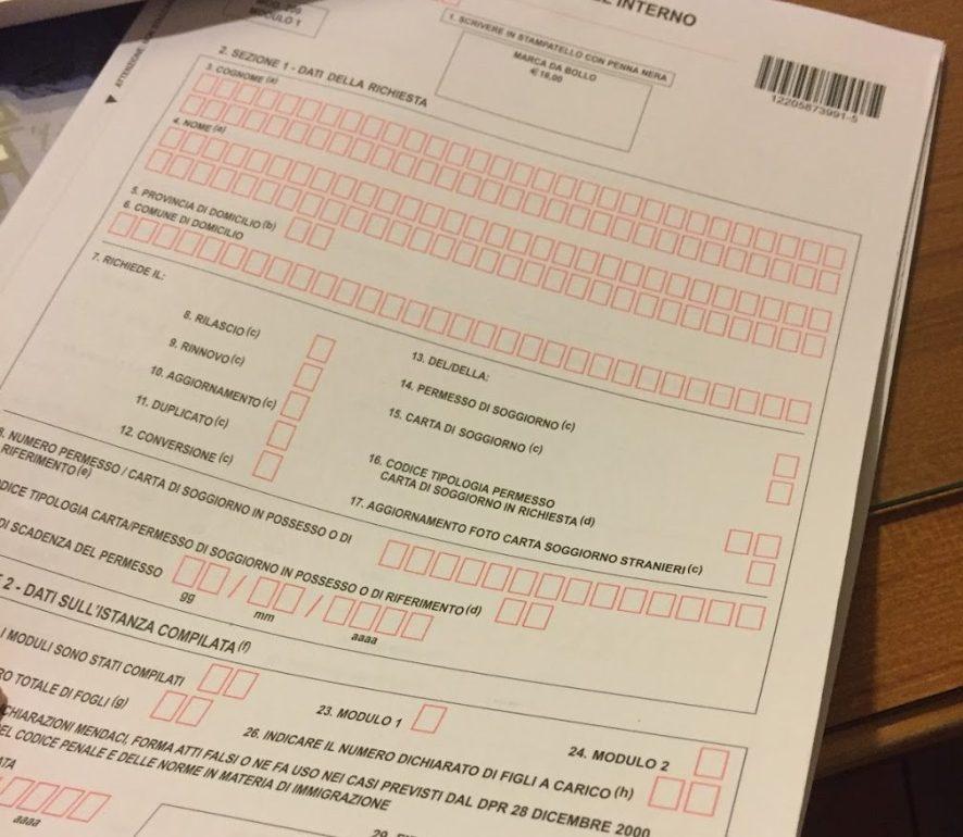 How to fill out your permesso di soggiorno a step by step for Documenti per rinnovo carta di soggiorno