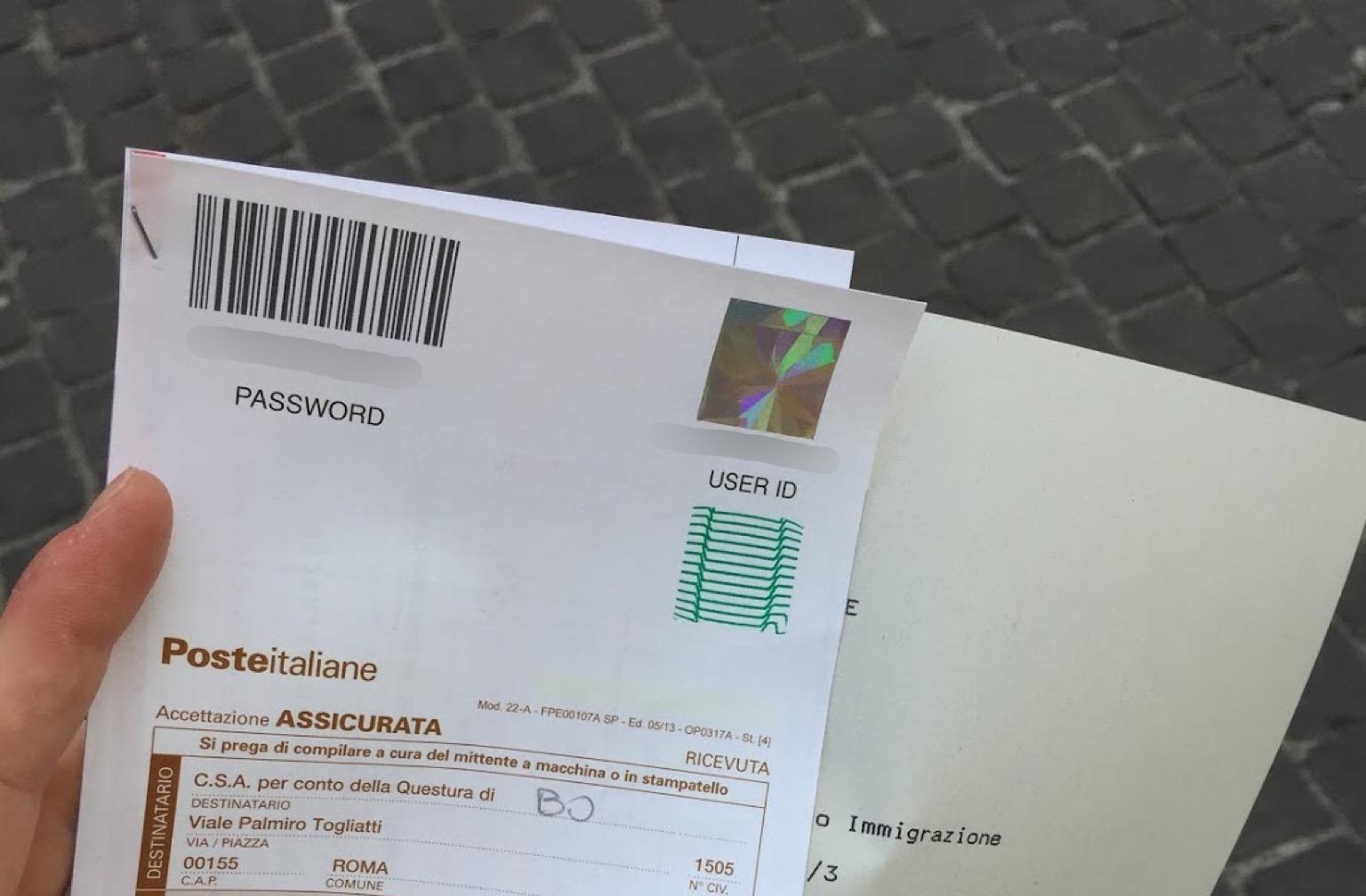 permesso di soggiorno receipt - Expat Alexa