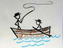 Tom did the rowing; his dad was an accomplished fly fisherman.