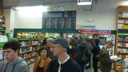 The checkout line at Powell's City of Books is almost a city block long