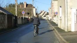 Riding our bikes into town