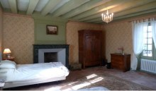 The master bedroom with fireplace