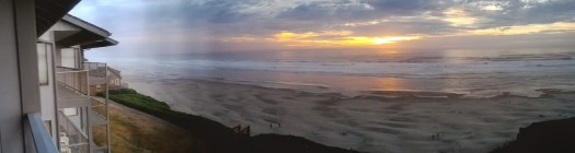 The view from our room at the Oregon coast