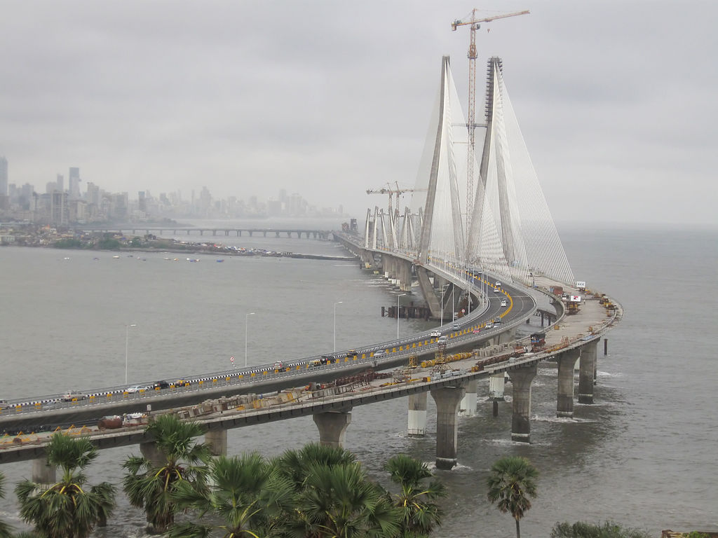 Bandra Worli Sea Link from Taj Lands End, India - is what it is.