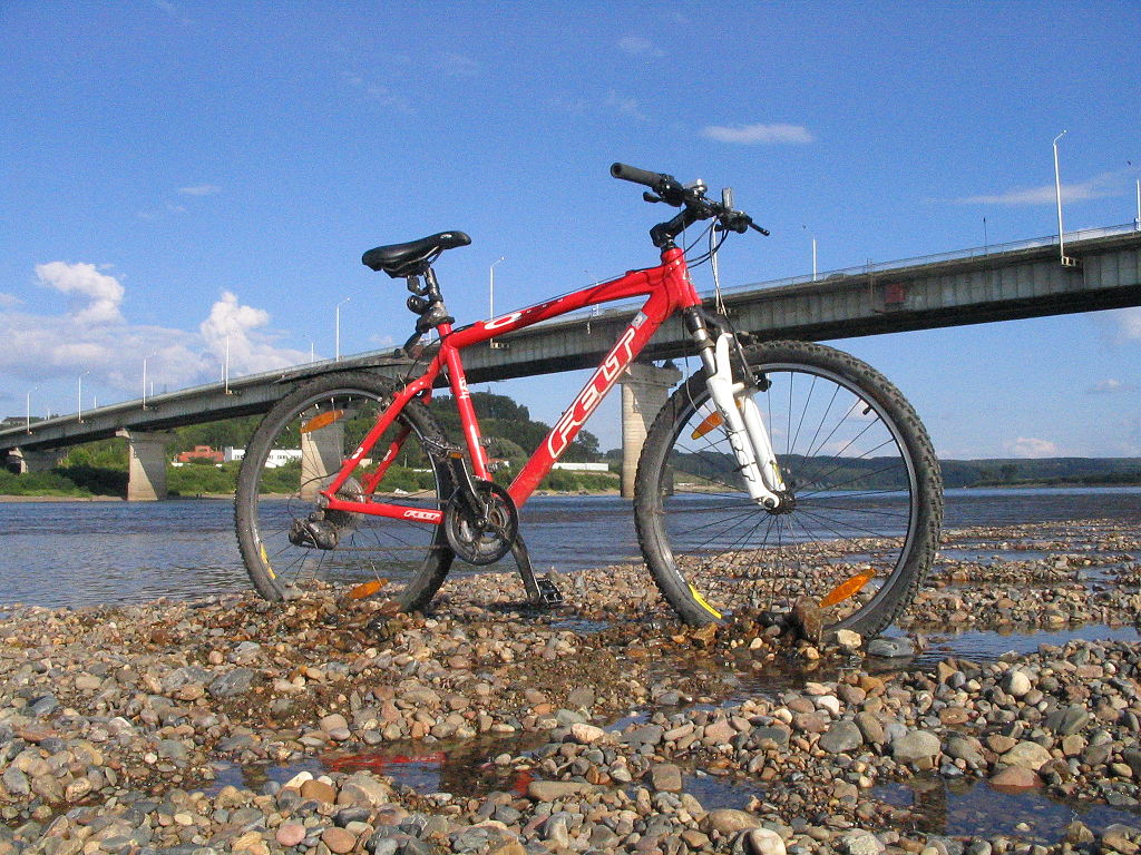 Felt Mountain Bike by the Tomsk River Bridge, Siberia - Ground Game