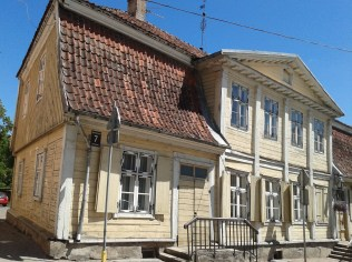 The oldest wooden house in Kuldīga
