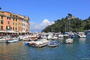 Port of Portofino and Castello Brown