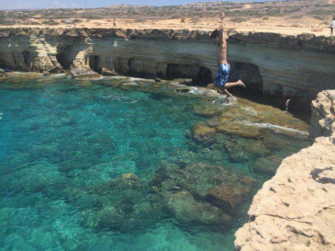 Cliff jump Cyprus