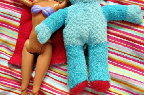 Barbie & Iggle Piggle get together, multi-racial relationships