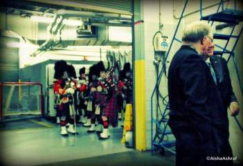 48th Highland Regiment at the Leafs vs Sabres game at the ACC, Toronto
