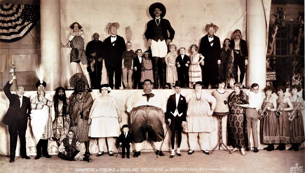 The Congress of Freaks from Ringling Brothers and Barnum and Bailey's Circus in 1922