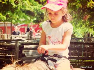 Deep in thought on horseback