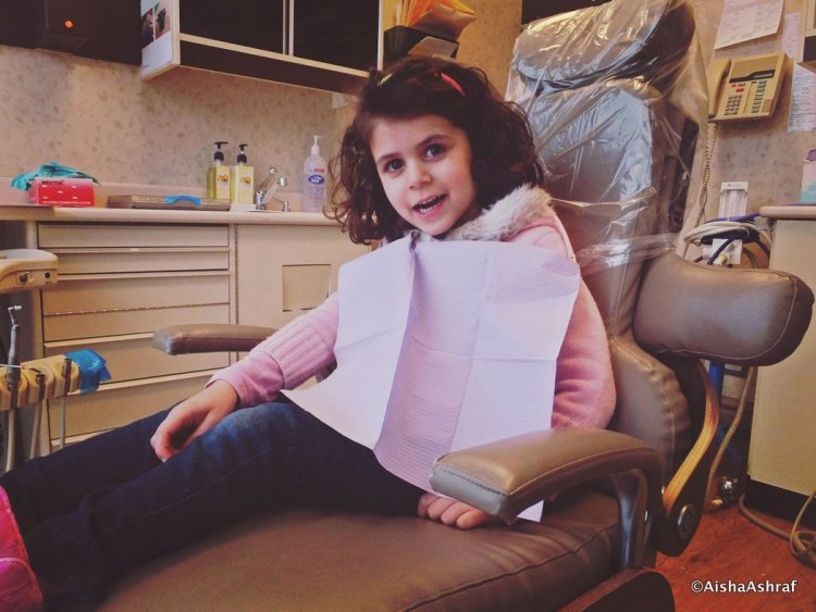 Child in a dentists chair