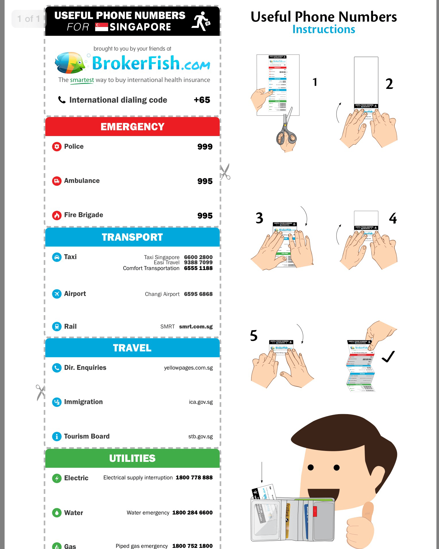 Travel Must Have Printable Emergency Contacts Card