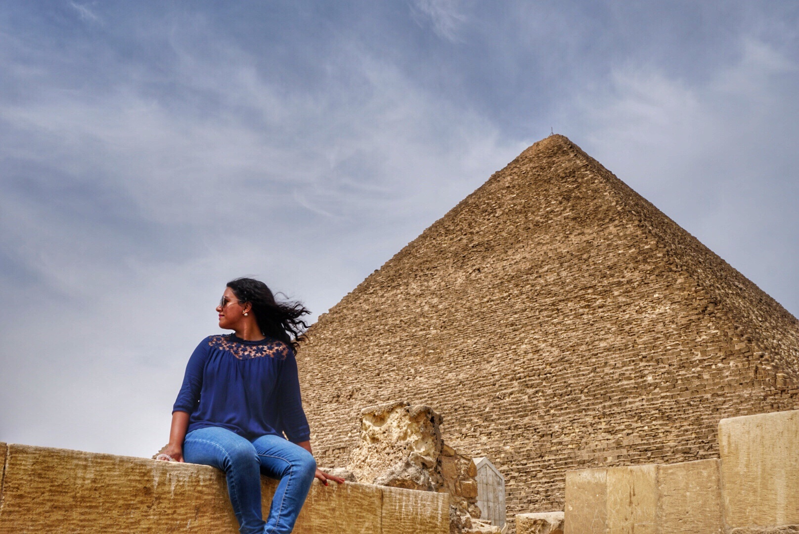 You visited the Great Pyramids of Giza while in transit?!