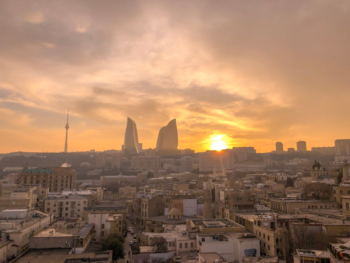 sunset view baku