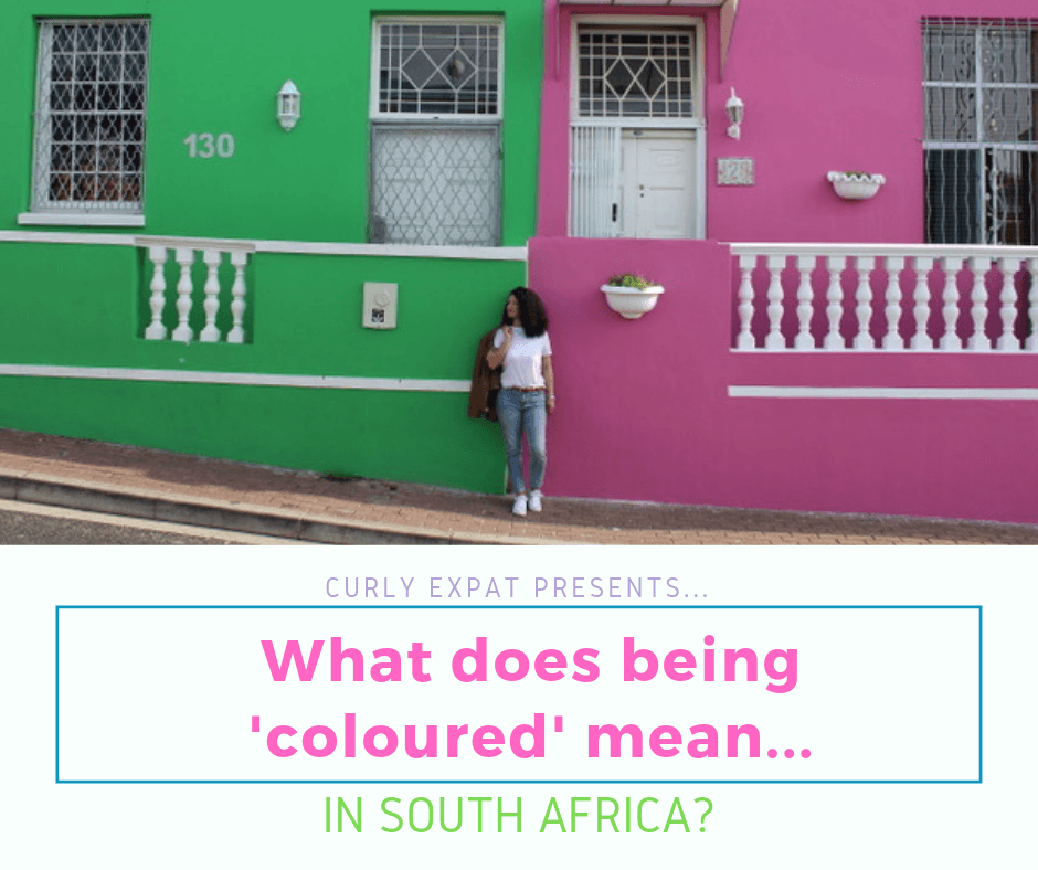 What does being 'Coloured' mean in South Africa?